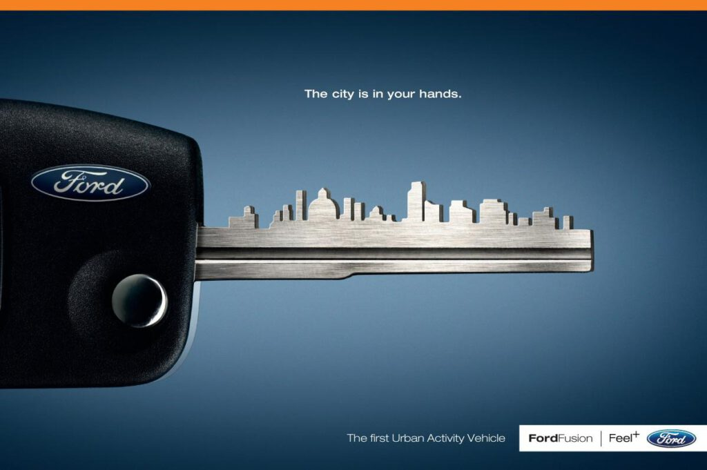 different concept of print ad - Ford